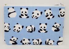 Cute Tumbling Pandas Fabric Handmade Zippy Coin Money Purse Storage Pouch