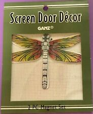 Dragonfly Screen Door Decor Saver 2pc Magnet Set Ganz New colorful Metal
