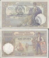 """SERBIA""""100 DINARA """" 1929 RARO CON TIMBRO VERIFICATO N.19"""