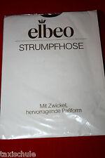 Luxus edel Elbeo Nylons Strumpfhose Gr. 48 Schwarz 20 Den Retro Vintage Strümpfe