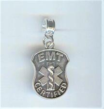 EMT Certified, Paramedic, Charm, Bead fits European & Charm Bracelets - F899