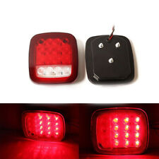 2PCS Universal Car 16LED Truck Stop Tail Light Turn Stop Reverse Rear Brake Lamp