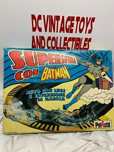 Vintage SUPERSFIDA CON RARE-Polistil Batman & Penguin 1/43 Scale Slot Cars.1980