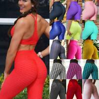 Women Anti-Cellulite Yoga Pants Push Up Leggings Scrunch Sports Fitness Gym M19