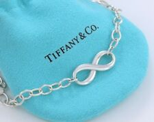 """Tiffany & Co Silver Infinity Large Heavy Link 18"""" Necklace Retails $350+ w Pouch"""