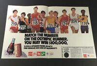 VTG Retro 1989 Coca-Cola, Diet Coke Sprite, FREE Coke McDonald's Print Ad Coupon