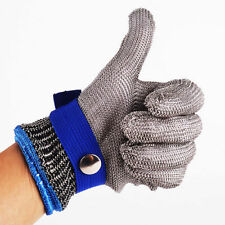 Glove Stab Resistant Stainless Steel Metal Mesh Butcher Safety Cut Proof Size M