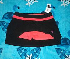 Black Adidas Tennis Skirt + Orange Shorts Swim Skort ? Size 12 - 14 Large Nwt