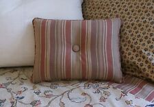 NEW Custom Ralph Lauren Northern Cape Stripe Accent Pillow 1 Button