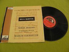 Bartok - Concerto Pour Violin / Menuhin - Violin / Furtwangler / RARE La Voix LP
