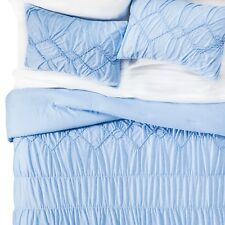 Solid Jersey Textured Comforter Set Xhilaration Twin XL Blue NWT