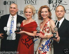 TONY AWARD WINNERS.. Frank Langella, J White, C Ebersole & D H Pierce - SIGNED
