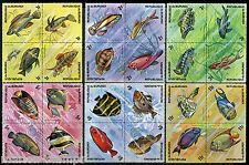BURUNDI  BIRDS & FISH  SCOTT#449/54   MINT NEVER HINGED