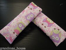 Child Car Seat Belt Strap Covers Highchair Stroller Pram Capsule Purple Owls