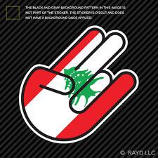 Lebanese Shocker Sticker Die Cut Decal Self Adhesive Vinyl Lebanon LBN LB