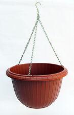3 x Hanging Flower Plant Pot Holder Hanger Basket Container Pot & Metal Chains