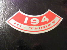 194 HI-THRIFT GM CHEVROLET CHEVY AIR CLEANER  DECAL