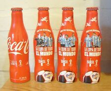 SET OF 4 COCA COLA ALU EMPTY  BOTTLES FIFA WORLD CUP BRAZIL 2014 FROM ARGENTINA