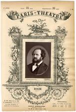 Lemercier, Paris-Théâtre, Gustave-Hippolyte Roger (1815-1879), chanteur Vintage