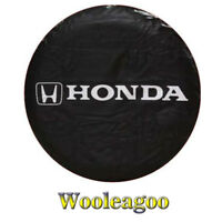 Wooleagoo Black Spare Tire Cover Soft Wheel Cover with Silver H onda C R-V Design 15