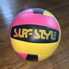 """Vintage Surf Style Volleyball Official Size No. 5 Pink Yellow Black 8.5"""""""