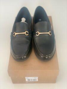 Ben Sherman leather loafer in Black
