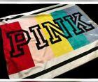 Victoria's Secret Pink Sherpa Soft Plush Blanket Throw Water Lily Camo Zebra