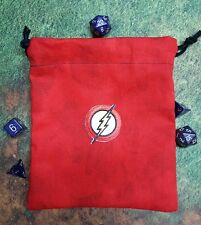 The Flash patch dice bag