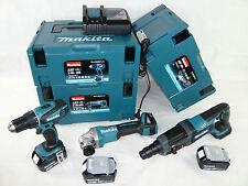 MAKITA 18V 3x5Ah Akku Werkzeug Maschinen Komo Kit Set DGA 504 DHR 241 DDF 456