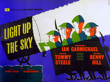 LIGHT UP THE SKY 1960 Ian Carmichael, Tommy Steele, Benny Hill UK QUAD POSTER