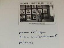 [PHOTOGRAPHIE] JAMES A. FOX (Ag. MAGNUM) RITRATTI Signé par CARTIER BRESSON 1983