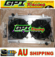 52mm Aluminum Radiator For Nissan Silvia S14 S15 SR20DET 240SX 200SX &shroud&fan