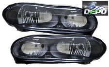 98-02 Chevrolet Camaro Headlights Pair Black Housing DEPO
