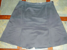 Ladies Izod Club International Tour Skort Skirt Golf Tennis Charcoal Gray 8-10 M