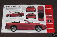 1985-1992 MAZDA RX-7 (1989 TURBO II) Car SPEC SHEET BROCHURE PHOTO BOOKLET