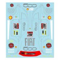 Museum Collection 1/24 Ferrari 458 J. Fisichella FIAT 500 Decal D785
