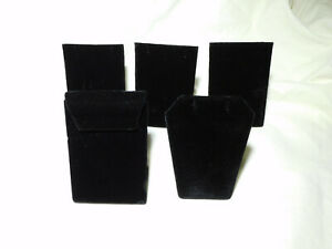 Black Velvet Necklace Chain Jewelry Display Holders Padded Neckform Easel Stand