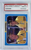 1987 Donruss Highlights #40 Mark McGwire Jose Canseco Oakland A's PSA 9 MINT