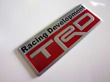 Toyota TRD Racing Embossed Metal Badge Emblem Sticker Logo 86 Corolla Yaris Rav4