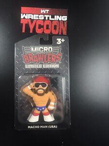 Macho Man Randy Savage USA Micro Brawler Pro Wrestling Crate w/Protector WWE