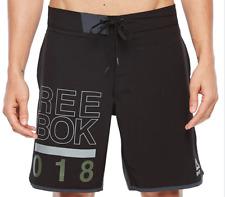 Reebok Men's Black Board Shorts Swimwear 9701 Size M