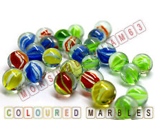 100 HI-QUALITY Multi Coloured MARBLES Kids Glass Toys Traditional Games Party