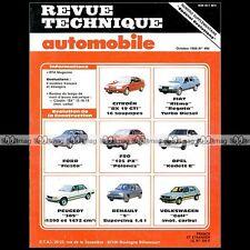 CITROEN BX 19 GTI, VW GOLF 1985 - RTA REVUE TECHNIQUE - RTA REVUE TECHNIQUE #119