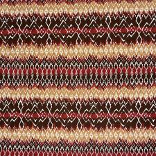 Baumwollstoff Akeo Ethno Muster rot braun