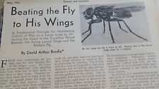 MAY 1931 MAGAZINE PAGE #SP4- MAINTAINING CONTROL OF FLIES ON LARGE SCALE- 2 PGS