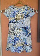 Talbots Dress Multicolored Short Sleeve sz 14 WASHABLE EUC