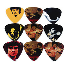 Nouveau 10pc Bruce Lee Guitar Picks Accessoires ABS Médiators Bundle Lot de rechange 1 mm
