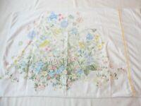 Pillow Case Vintage 1980's Percale Multicolor Floral Print