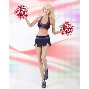 1:6 Sexy Cheerleading Uniform Set for   Phicen Female Figure Black