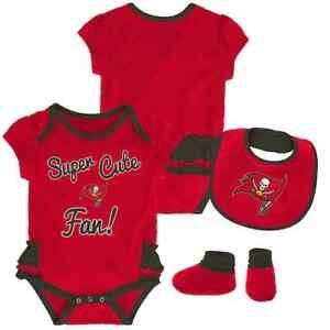 Tampa Bay Buccaneers NFL Baby Girl Mini Trifecta Bodysuit, Bib & Booties  3/6 Mo